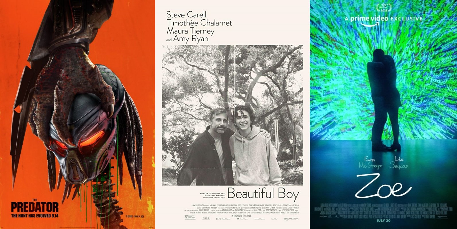 Trailer-Watchin' Wednesday - The Predator, Beautiful Boy, Zoe