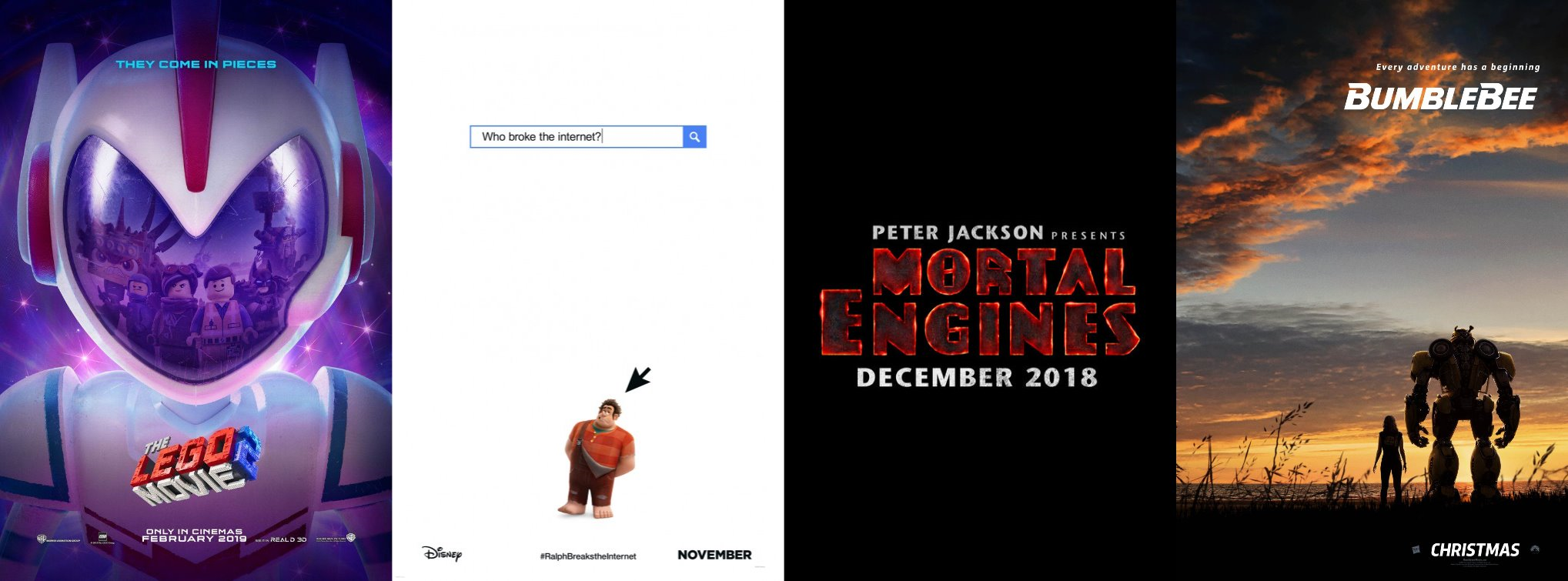 Trailer-Watchin' Wednesday - The Lego Movie 2, Mortal Instruments, Ralph Breaks the Internet, BONUS Bumblebee
