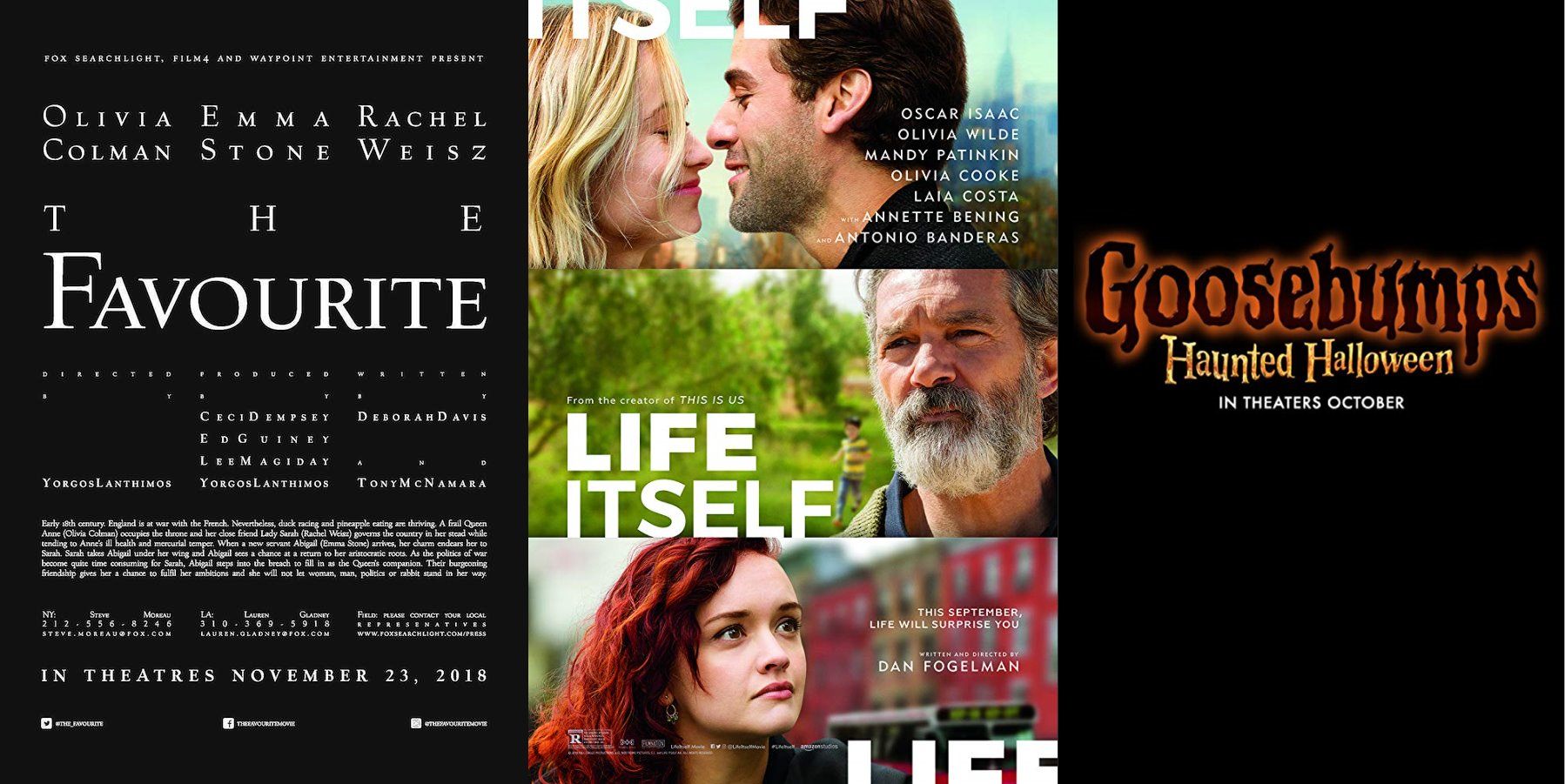 Trailer-Watchin' Wednesday: Life Itself, The Favourite, Goosebumps 2
