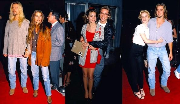 Brad Pitt Looking Like His Girlfriends