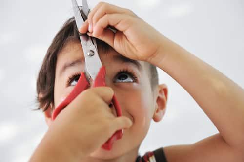 Kid Cuts His Own Hair!!!!