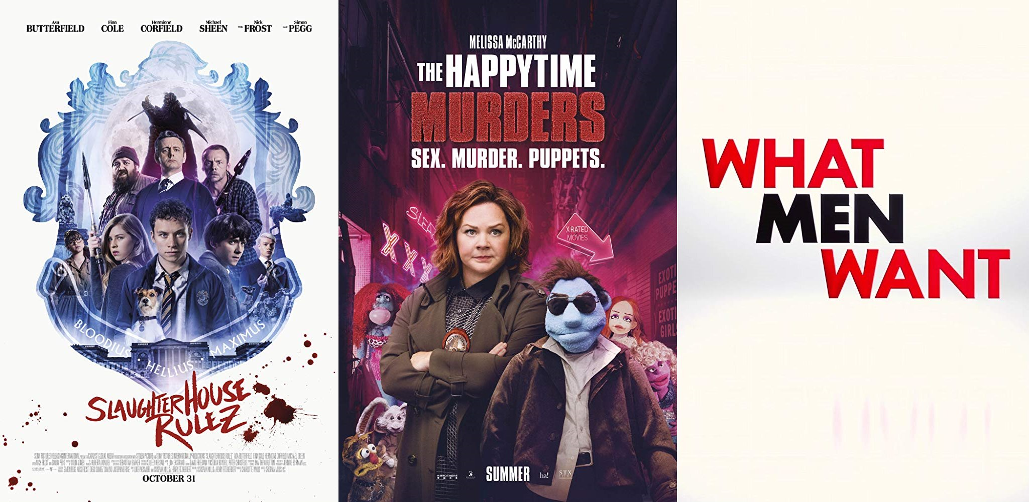 Trailer-Watchin' Wednesday - The Happytime Murders (redband), What Men Want, Slaughterhouse Rulez