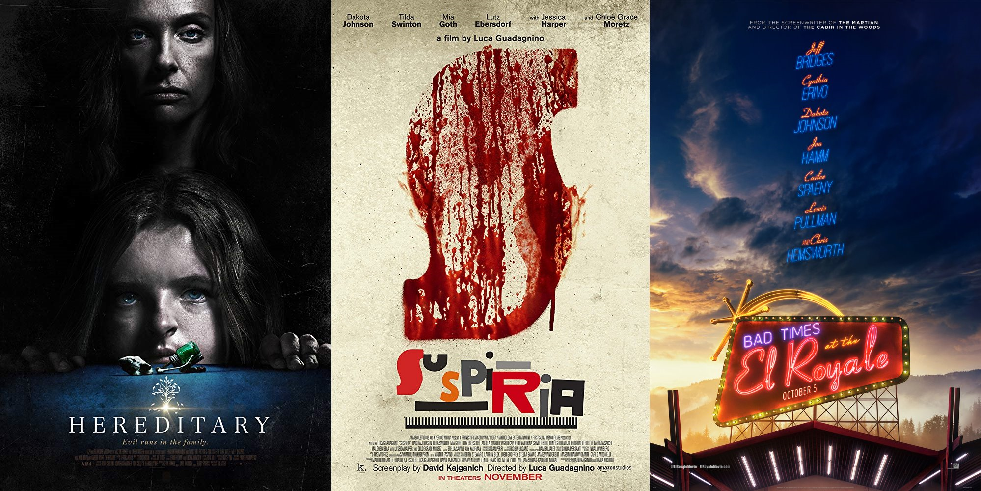 Trailer-Watchin' Wednesday - Suspiria, Bad Times at the El Royale, and Hereditary