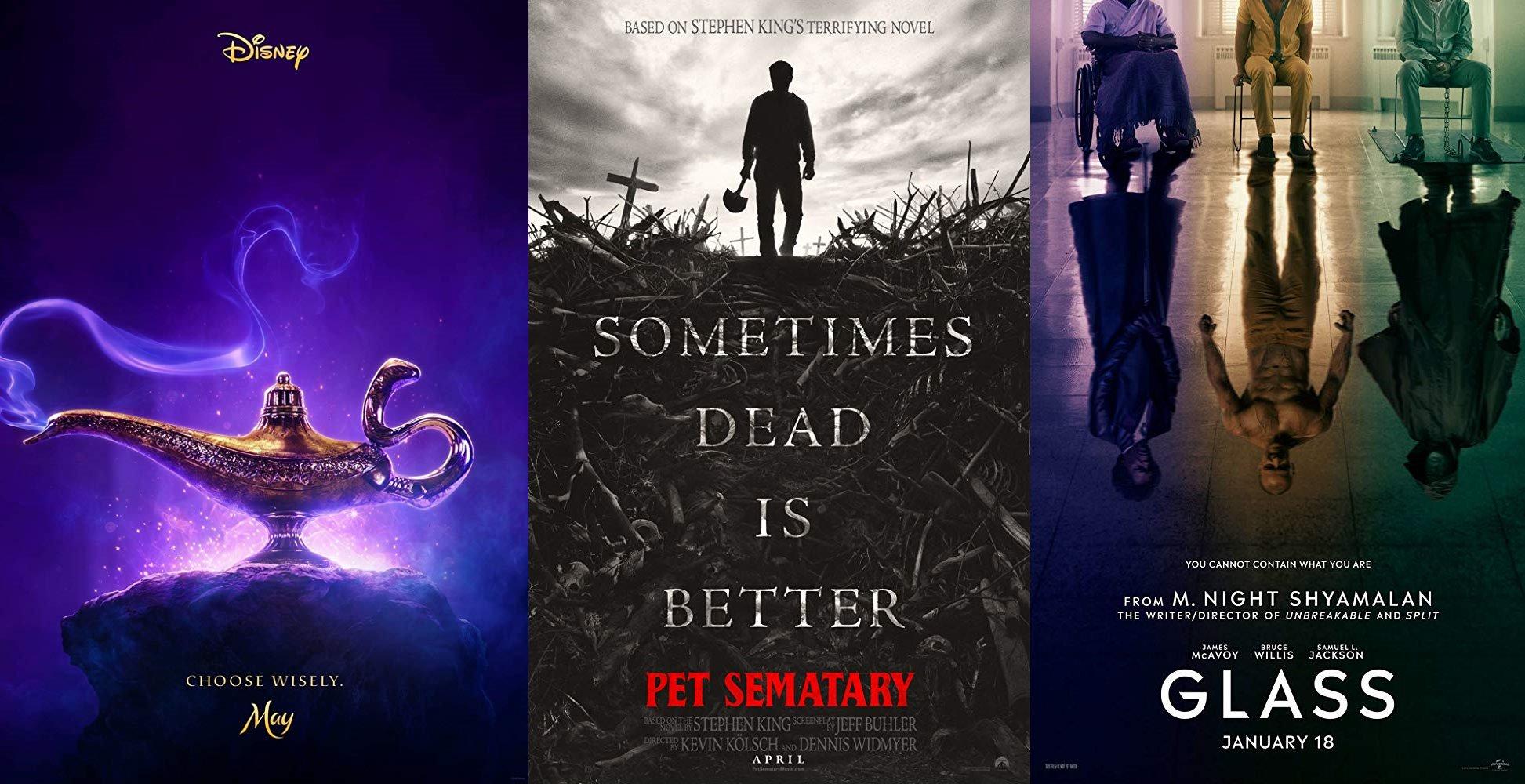 Trailer-Watchin' Wednesday - Aladdin, Glass, Pet Sematary