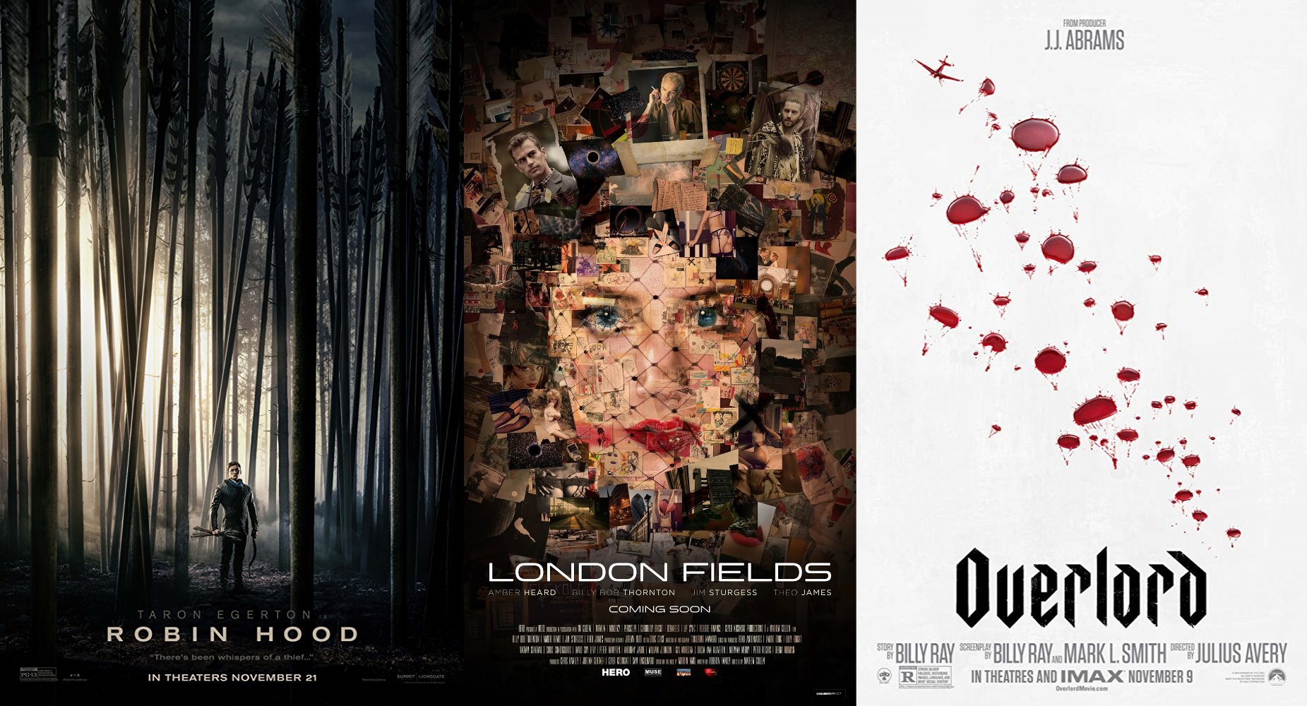 Trailer-Watchin' Wednesday - Robin Hood, London Fields, Overlord