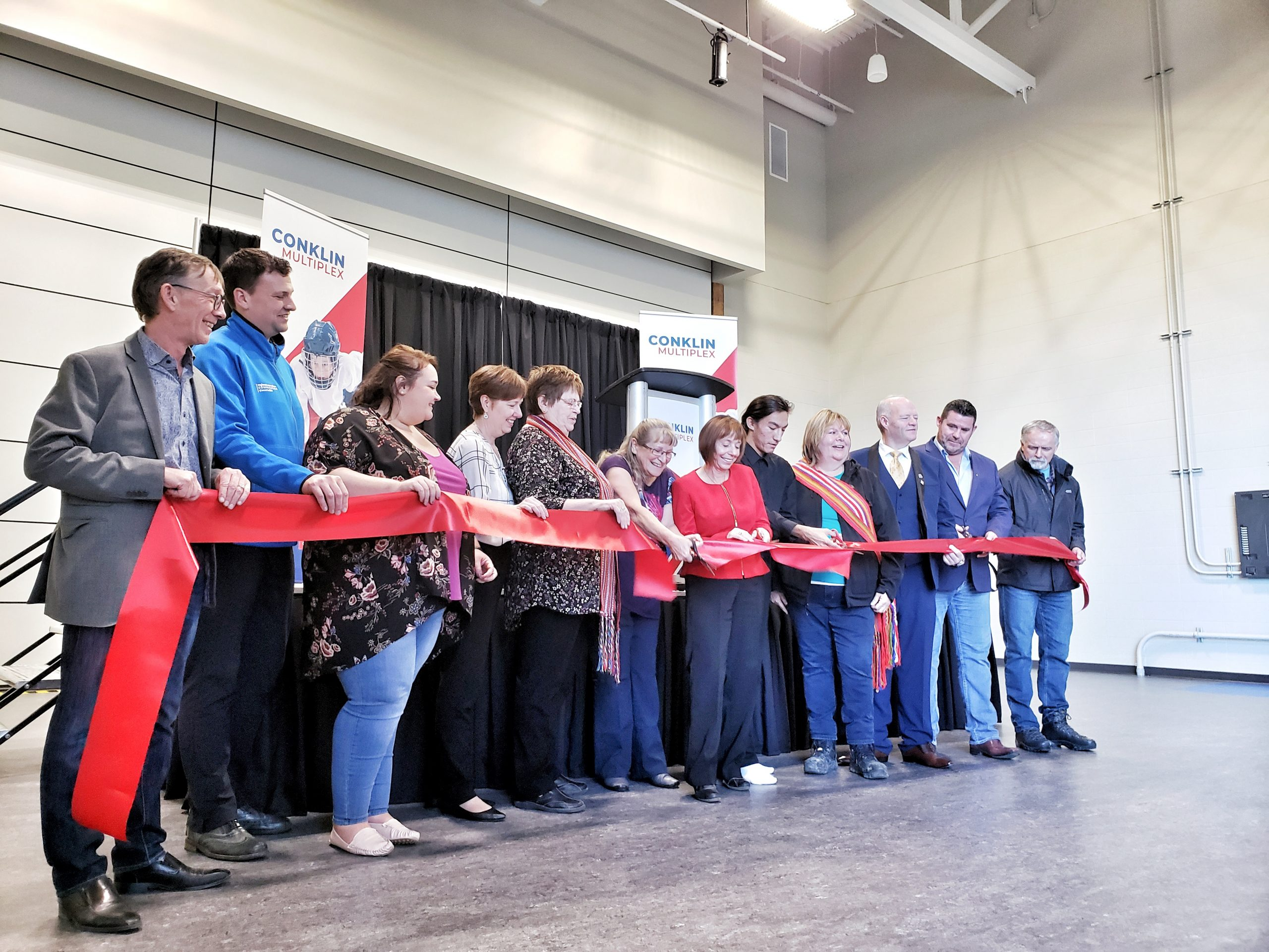 Municipality Celebrates Opening Of Conklin Multiplex And Anzac Fire Hall