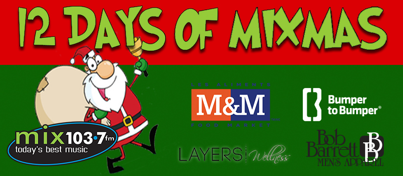 Feature: https://www.mix1037fm.com/2018/11/27/12-days-of-mixmas/
