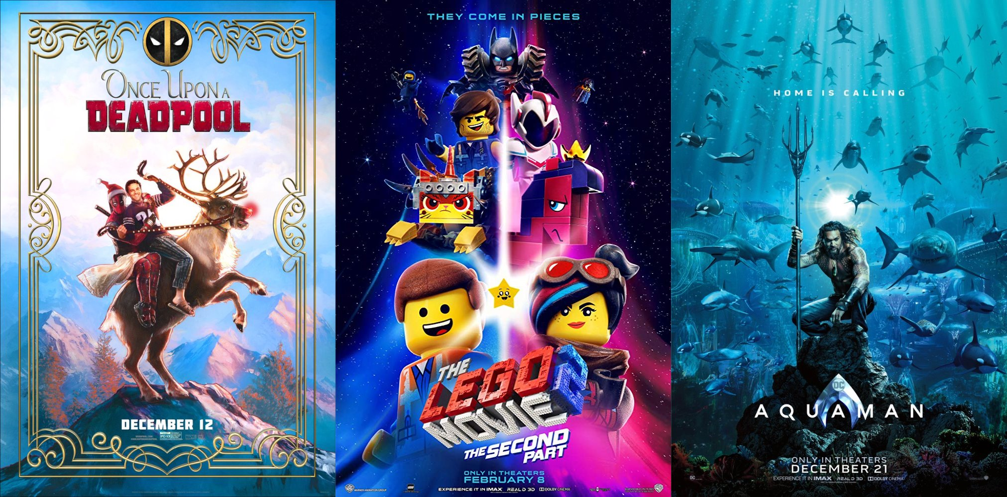 Trailer-Watchin' Wednesday - Aquaman, LEGO Movie 2, Replicas and BONUS Once Upon a Deadpool