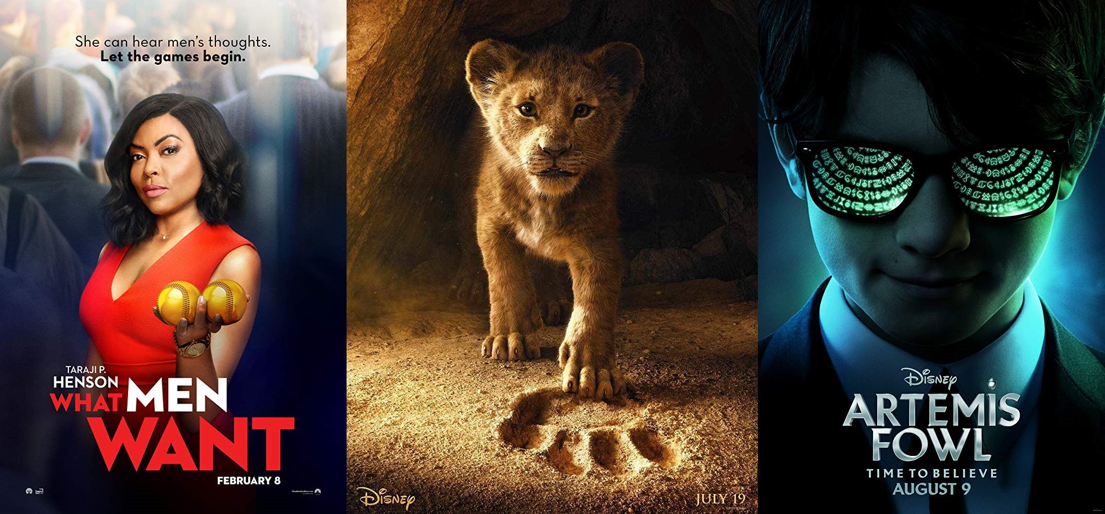 Trailer-Watchin' Wednesday - The Lion King, What Men Want, Artemis Fowl