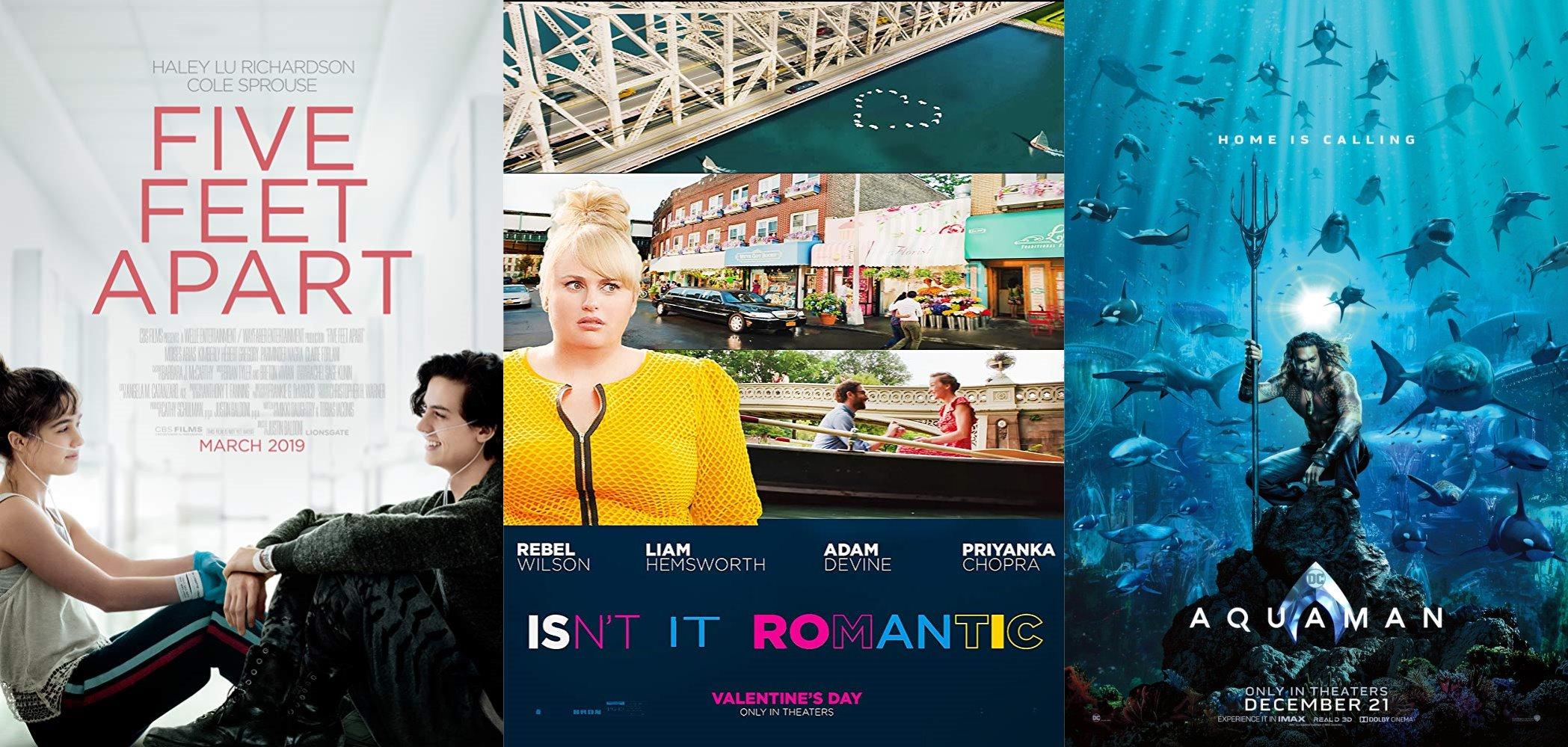 Trailer-Watchin' Wednesday - Isn't It Romantic, Five Feet Apart, Aquaman