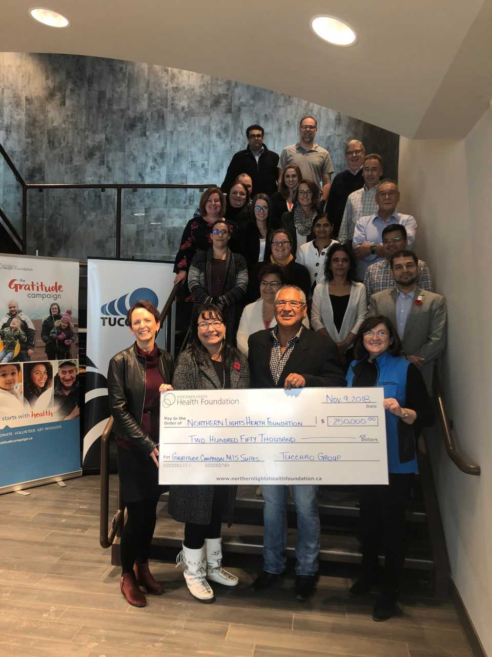 NLHF's Gratitude Campaign Nearly Finished, Tuccaro Group Donates $250K