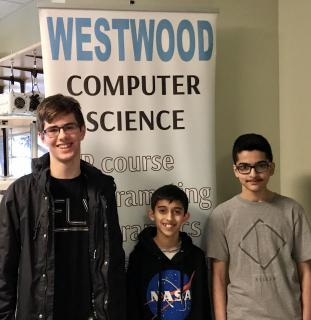 Three Westwood Students Score Perfect on National Coding Test