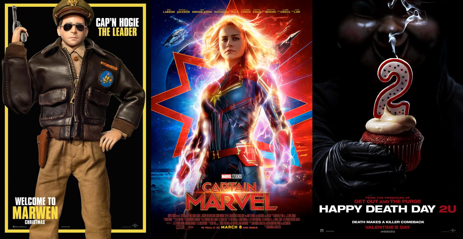 Trailer-Watchin' Wednesday - Captain Marvel, Happy Death Day 2U, Welcome to Marwen