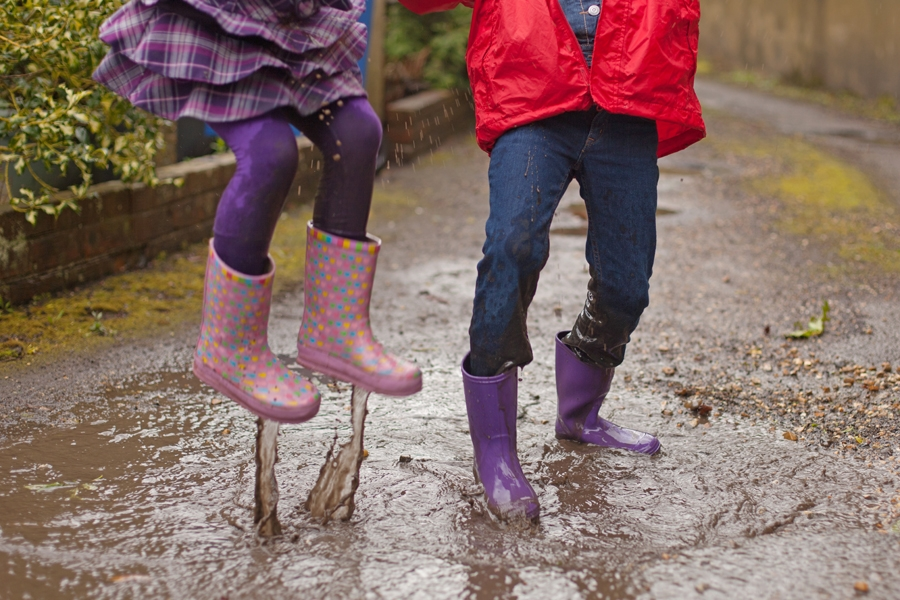 Today is Jump In a Puddle and Splash a Friend Day