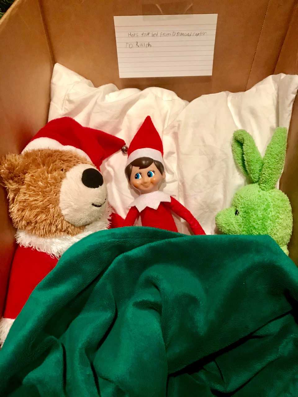 A comfy rest for Ralph the Elf
