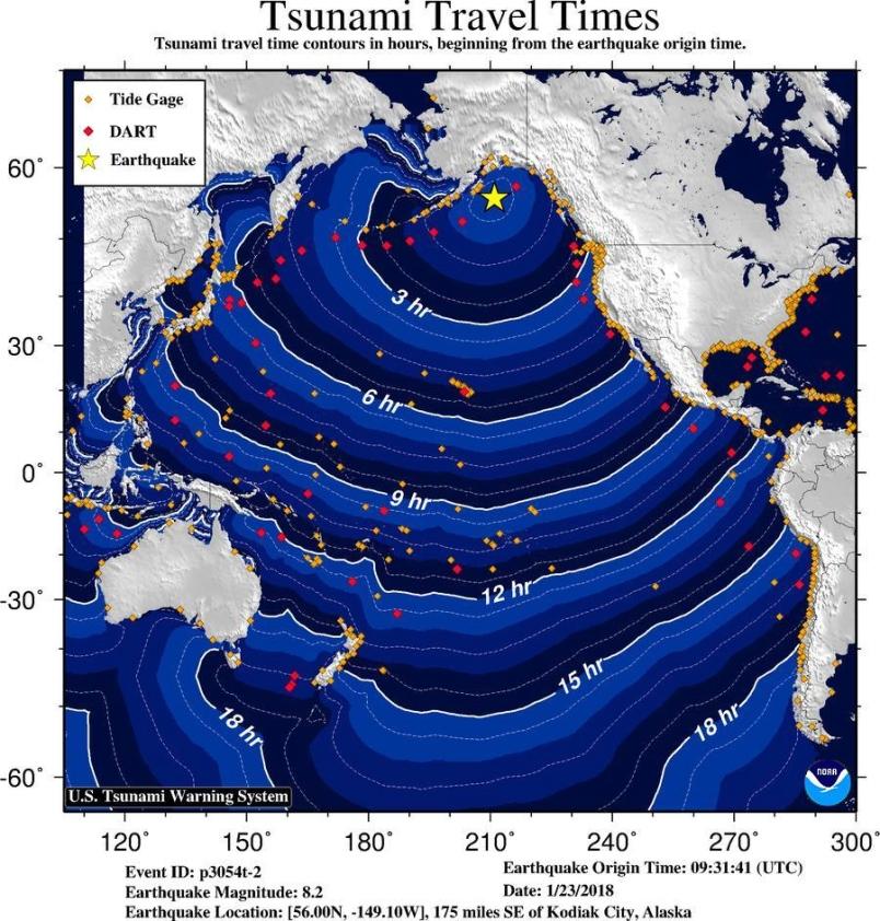 Tsunami Warnings In Effect After An Alaskan Earthquake