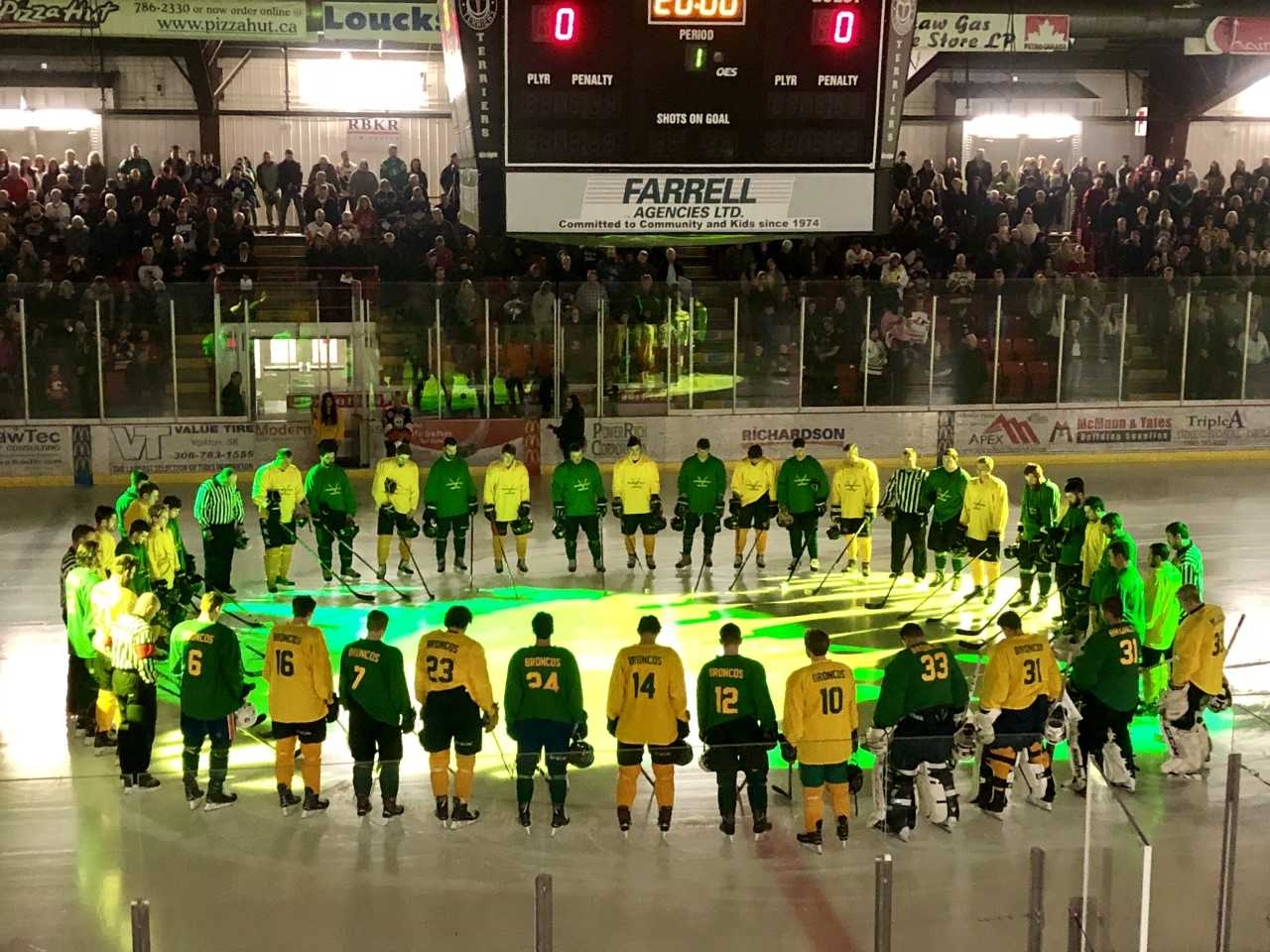 Humboldt Broncos benefit game in Yorkton