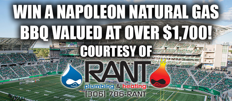 Win A Napoleon Natural Gas BBQ Courtesy of RANT Plumbing and Heating!