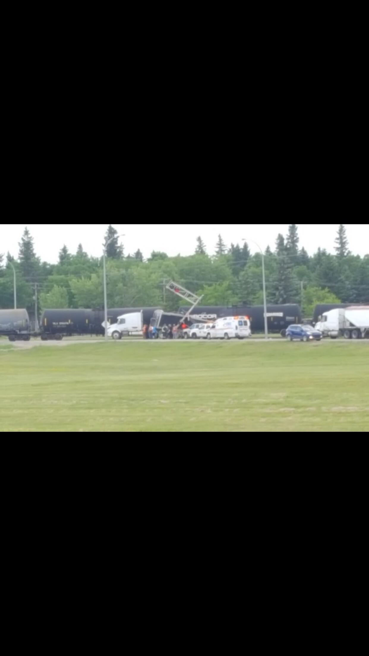 Reported Collision Between Train, Tractor-Trailer Unit Blocks Traffic in Yorkton