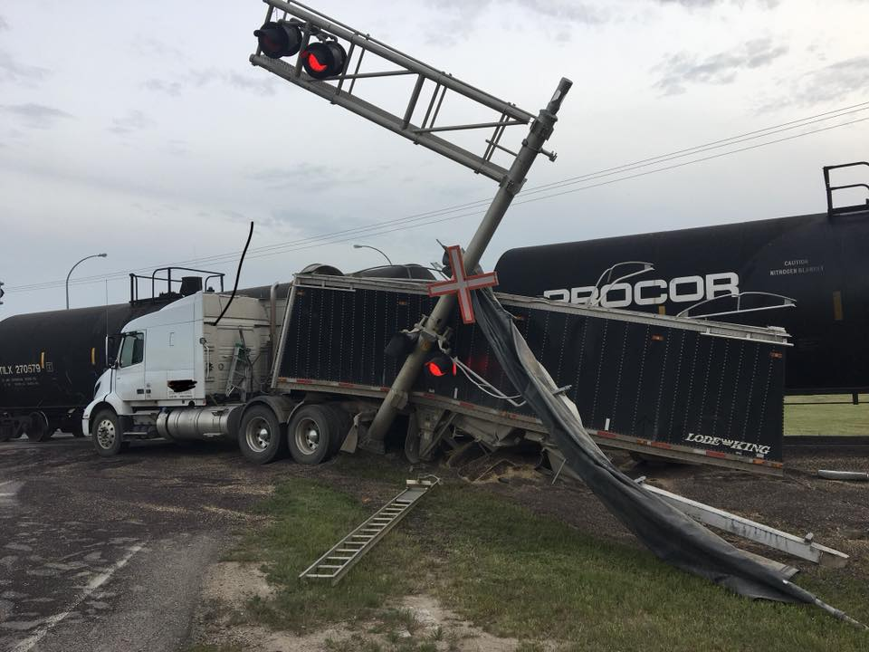 No Injuries In Last Night's Train-Semi Accident