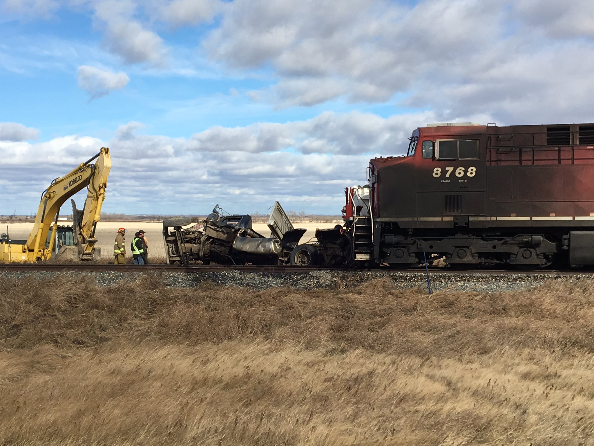 Collision Between CP Train, Semi Truck Reportedly Leaves Driver with Serious Injuries