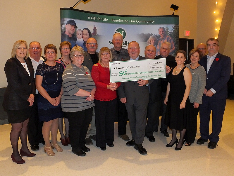 Community Foundation of Swan Valley (CFSV) Receives Six-Figure Cheque