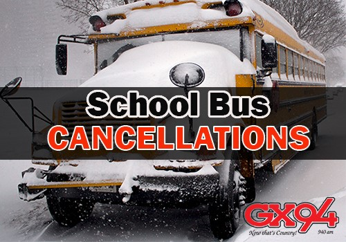Bus cancellations for Monday January 7th 2019