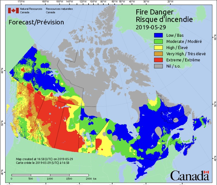 Canada Fire Map on
