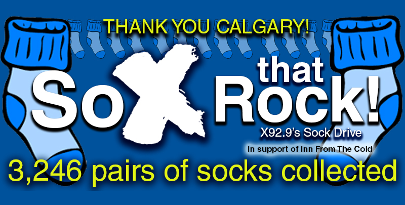 Feature: https://www.x929.ca/2018/11/13/sox-that-rock-annual-sock-drive/