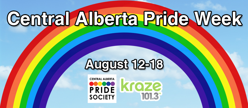 Feature: http://www.kraze1013.com/2018/07/30/central-alberta-pride-week/