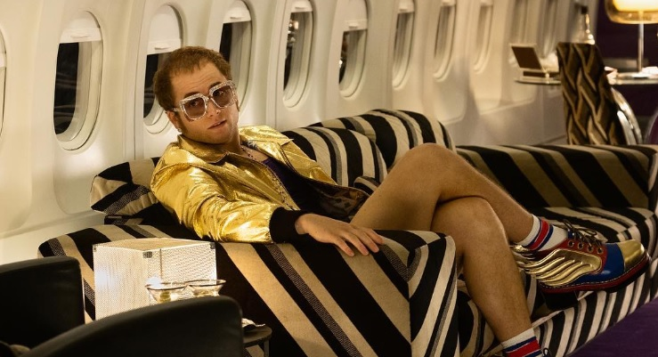 First look at Taron Egerton as Elton John.