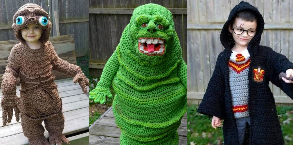 Check out these incredible crocheted Halloween costumes.