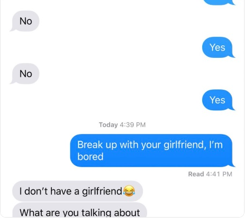 How to break up with your girlfriend through text