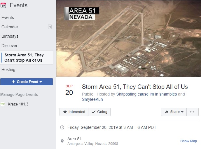 400,000+ People Are Getting Ready to Raid Area 51 | KRAZE 101 3