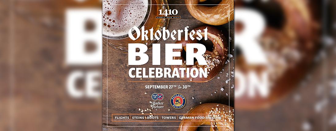 Get WILD for Oktoberfest at 1410 World Bier  Haus