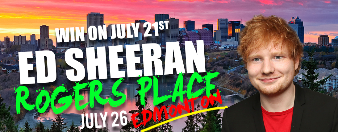 Win Tickets to See Ed Sheeran in Edmonton