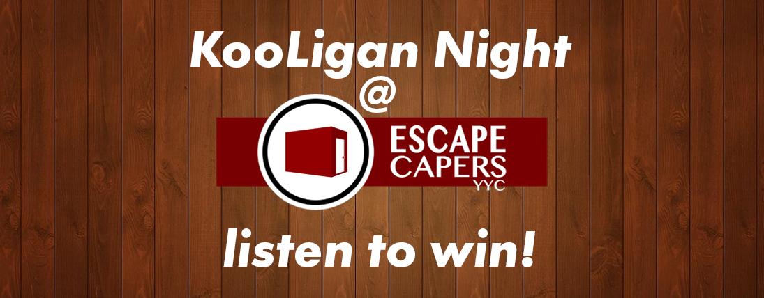KooLigan Night at ESCAPE CAPERS