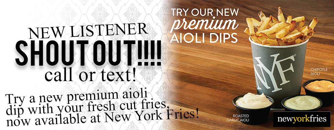 New York Fries for Listeners!
