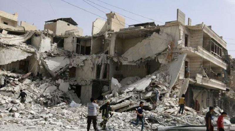 Warplanes pound rebel-held districts of Aleppo, monitor, rebels say