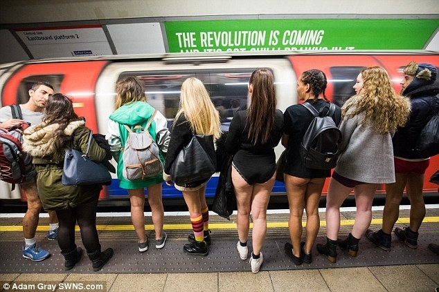 Check out PHOTOS FROM London's 'No Trousers on the Tube Day' Celebration