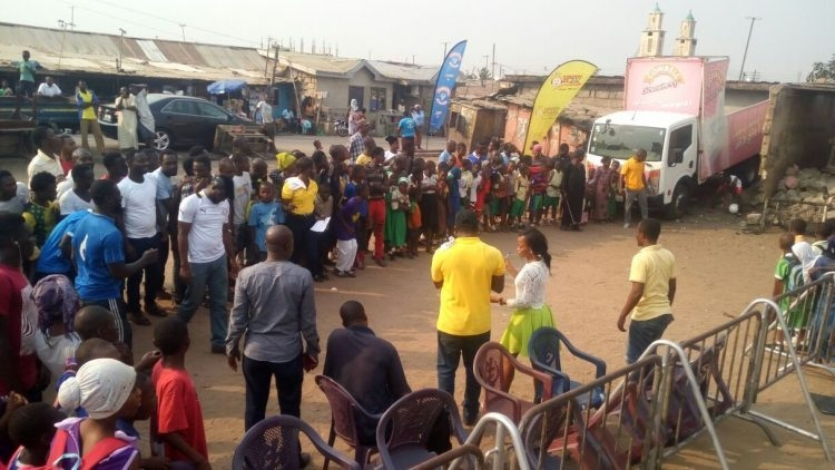 PHOTOS: Happy FM and Cowbell Shake Sabon Zongo With Ghana-Uganda Coverage