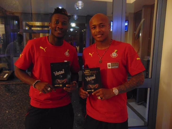 Ghana FA dismisses report of Asamoah Gyan bust up with Andre Ayew