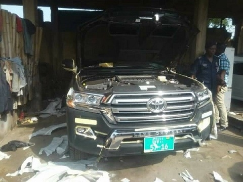 Missing State vehicle retrieved from spraying shop at Kwabenya