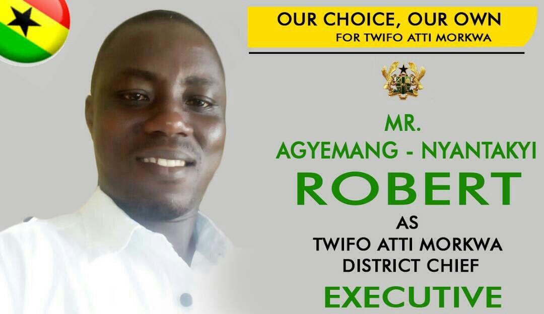 NPP youth of Twifo Ati Mokwaa Congratulates Mr. Robert Agyemang - Nyantakyi as DCE