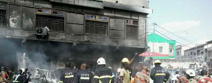 Fire destroys Ashfoam warehouse at Avenor in Accra