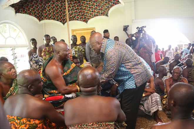 The law will work without fear or favour – Akufo-Addo assures Asantehene