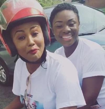 Vidoe: See Nana Ama McBrown rides Okada with Emelia Brobbey