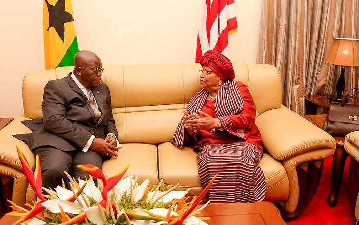 President Akufo-Addo celebrates Liberian President