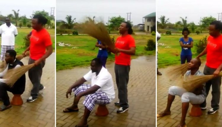 This Scary Video Of A Man Using Brooms To Identify And Catch A Thief Will Make You Scream
