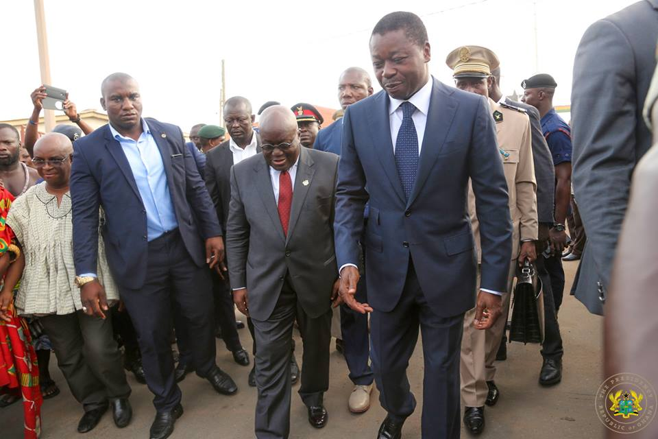 Photos: Togo's Gnassingbe welcomes Akufo - Addo
